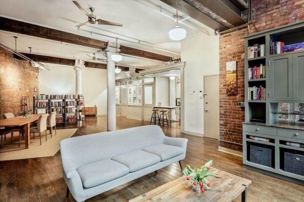 One bedroom loft condo apartment for sale in Tribeca