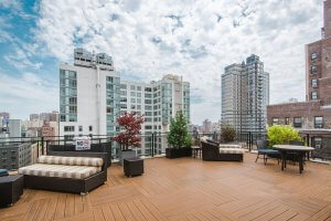 rooftop of the apartment in kips bay