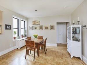 Dining area of the two bedrooms 1 bath in Inwood upper west side